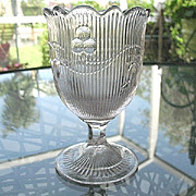 Bellflower Flint Glass Spoon Holder McKee 1860s