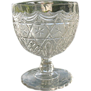 Antique 1885 Leverne aka Star in Honeycomb EAPG Buttermilk Goblet