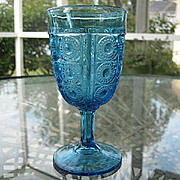 Sapphire Blue Paneled Jewel Water Goblet #1