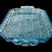 Daisy Button Thumbprint Panel Blue Water Tray Adams & Co.