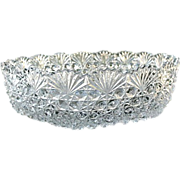 Cut Lead Crystal 7.5 in. Round Bowl Hoya Vintage