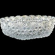 Cut Lead Crystal 7.5 in. Round Bowl Hoya Vintage