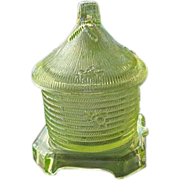Bee Hive Honey Jar Iridescent Yellow Boyd Glass