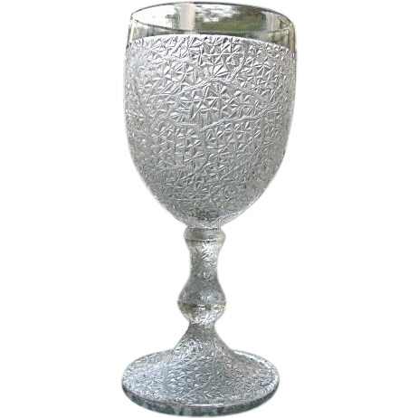 Tree Of Life Water Goblet 2 Portland Glass 1870s From