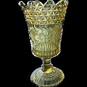 Amber Pedestal Stem Wildflower Celery Vase Adams and Co.