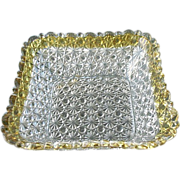 Daisy Button 8.5 inch Square Canary and Clear Bowl Hobbs