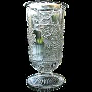 Clear Hummingbird and Fern Celery Vase