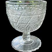 Antique 1885 Leverne aka Star in Honeycomb EAPG Buttermilk Goblet #2