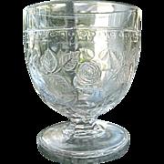 Cabbage Rose Buttermilk Goblet Central Glass 1870