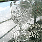 Leverne aka Star in Honeycomb 1885 Small Wine Goblet #2