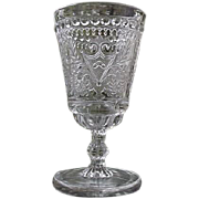 Odd Fellow Water Goblet 6 in. 1885 Adams Co.