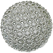 Daisy Button 4 Clear Round Plates 7 in. EAPG