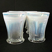 Tumbler Set 6 Northwood Opalescent Drapery Pattern