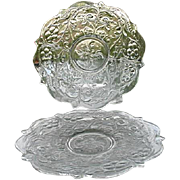 McKee Rock Crystal 2 Clear Round Plates 9.5 in.