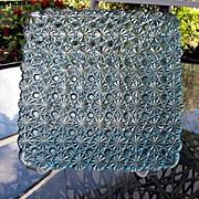 Square 7 in Dark Blue 6 Daisy Button Plates