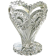 Imperial Glass Zippered Heart Vase 5 in.  EAPG