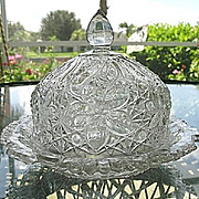 Daisy Button Narcissus Butter Dish Indiana Glass
