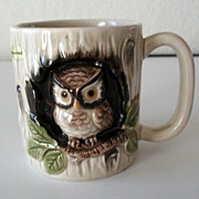 Mugs 6 Otagiri 1979  Owl in Hollow Tree  Made in Japan