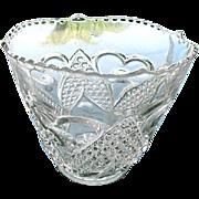 Heart with Thumbprint Scallop Rim Ice Bucket Tarentum