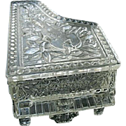 Grand Piano Covered Candy Dish Trinket Box