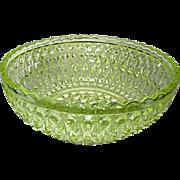 Canary Bowl Central Glass Pressed Diamond aka Zephyr 1885