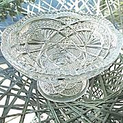 Low Standard Compote Ada Ohio Flint Glass 1898