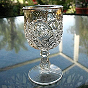 Heart with Thumbprint 4  Wine Goblets, Tarentum
