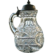 Scroll with Cane Band Syrup Pitcher 1894