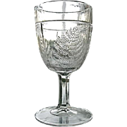 EAPG Water Goblet Garden Fern  Union Glass