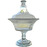 Dewdrop with Star Large Covered Compote 1877