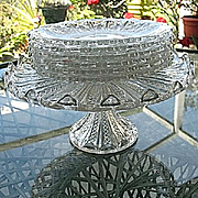 Mardi Gras Duncan Line 42 Cake Stand with 6 Dessert Plates