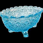 Daisy Button Aqua Blue Master Berry Bowl 10.25 in.