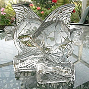 Fish on a Wave Heavy Crystal Bookends