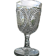 Oval Panel Fern EAPG Water Goblet 1880s