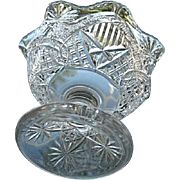 McKee Glass Squat Pineapple Small Compote