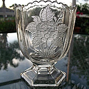 Rose Sprig Clear Spoon Holder 1886