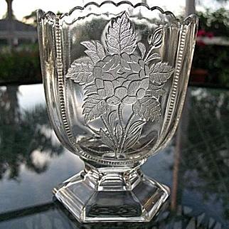 Rose Sprig Clear Spoon Holder 1886