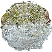 Two McKee Rock Crystal 9.5 in. Plates