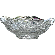 McKee Rock Crystal 9 in. Square Bowl Marked