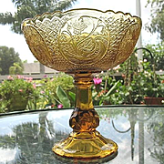 Compote Swedish Flower Medallion Fine Cut 1935