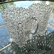 Daisy Button Creamer Sugar Set Elson Glass 1883