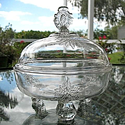Riverside Glass Footed Butter Dish