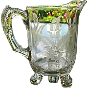Riverside Glass Works Creamer Grasshopper With No Insect