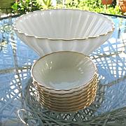 Anchor Hocking Fire King 9 pc Milk Glass Bowl Set