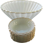 Anchor Hocking Fire King 9 pc Milk Glass Bowl Set