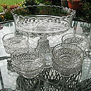 Bar and Diamond 9 pc Pedestal Bowl Set