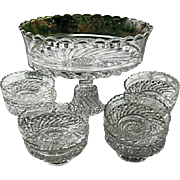 Bar and Diamond 9 pc Pedestal Bowl Set