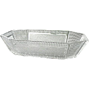 Pleat and Panel Rectangle Bowl