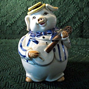 Otagiri Jazzy Pig Musician  Sugar Creamer Set