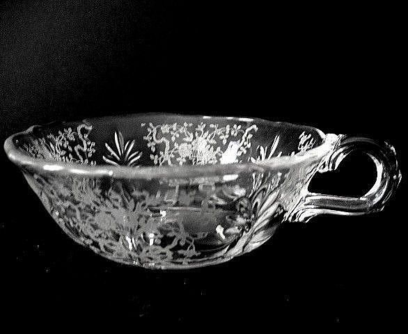 Fostoria Corsage Baroque Blank  Handled Bowl
